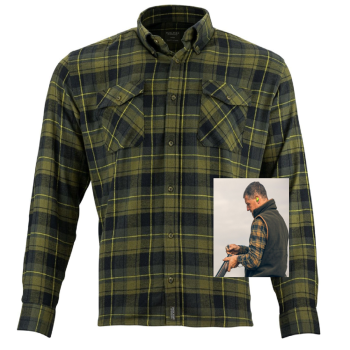 Jack Pyke Brown Country Flannel Shirt. Checked, Shooting & Hunter's wear