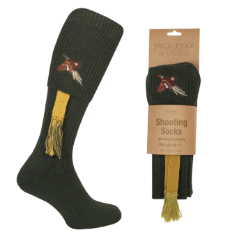 Jack Pyke Pheasant Motif Game Shooting Socks / Breek Socks.