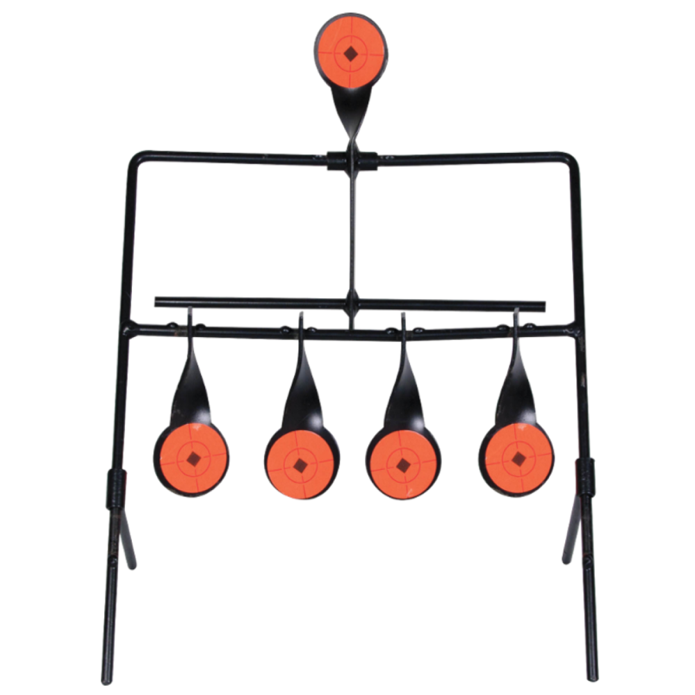 Rifle Practice Resetting Spinner Target
