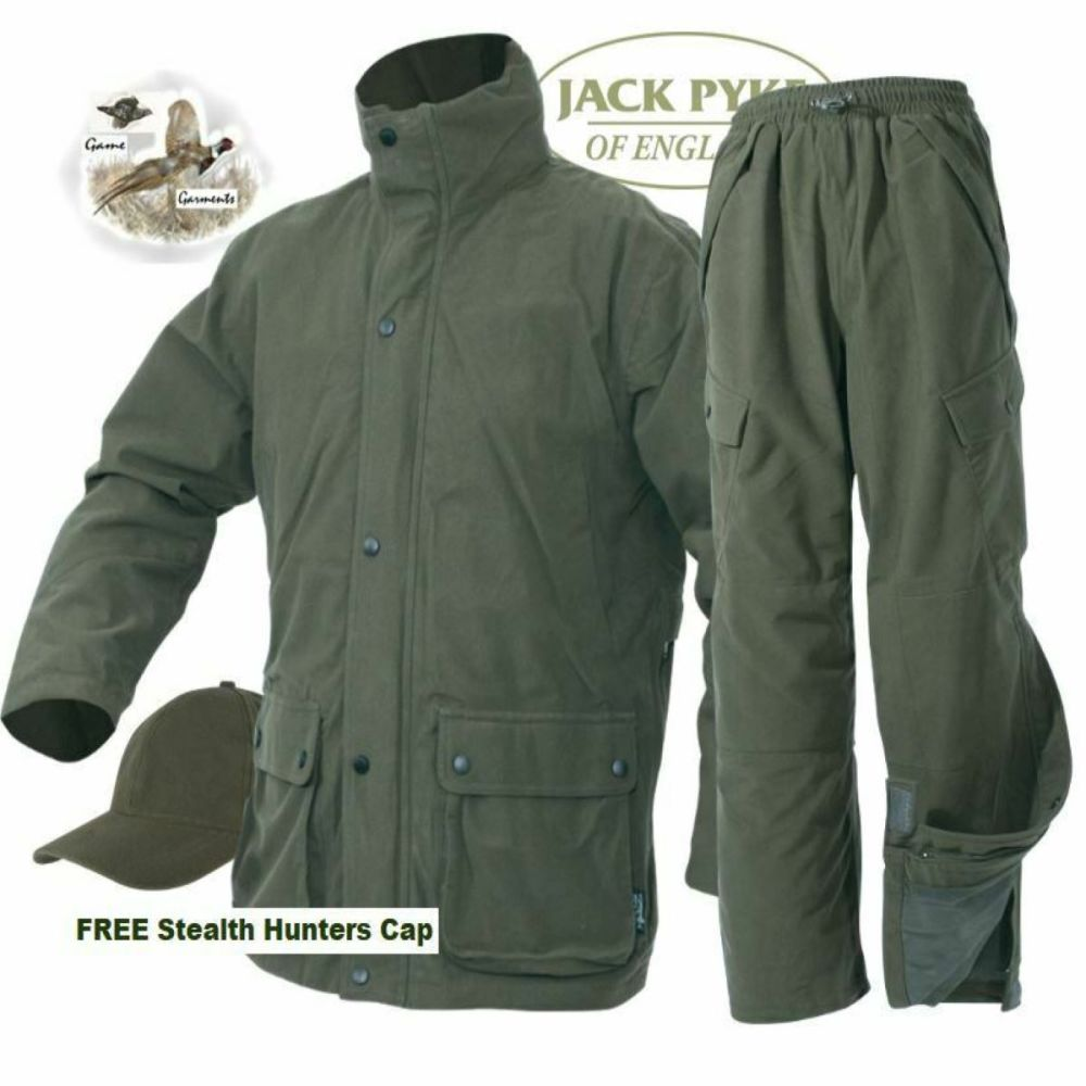 Hunters Green Waterproof, Breathable, Windproof Stealth Shooting Jacket.