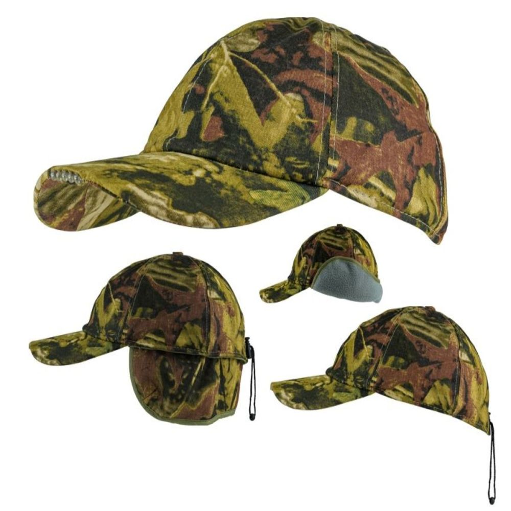 Camo Wildfowlers Led Light Cap