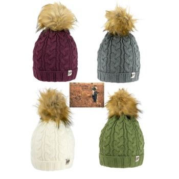 Ladies Cable Knit Bob Hat