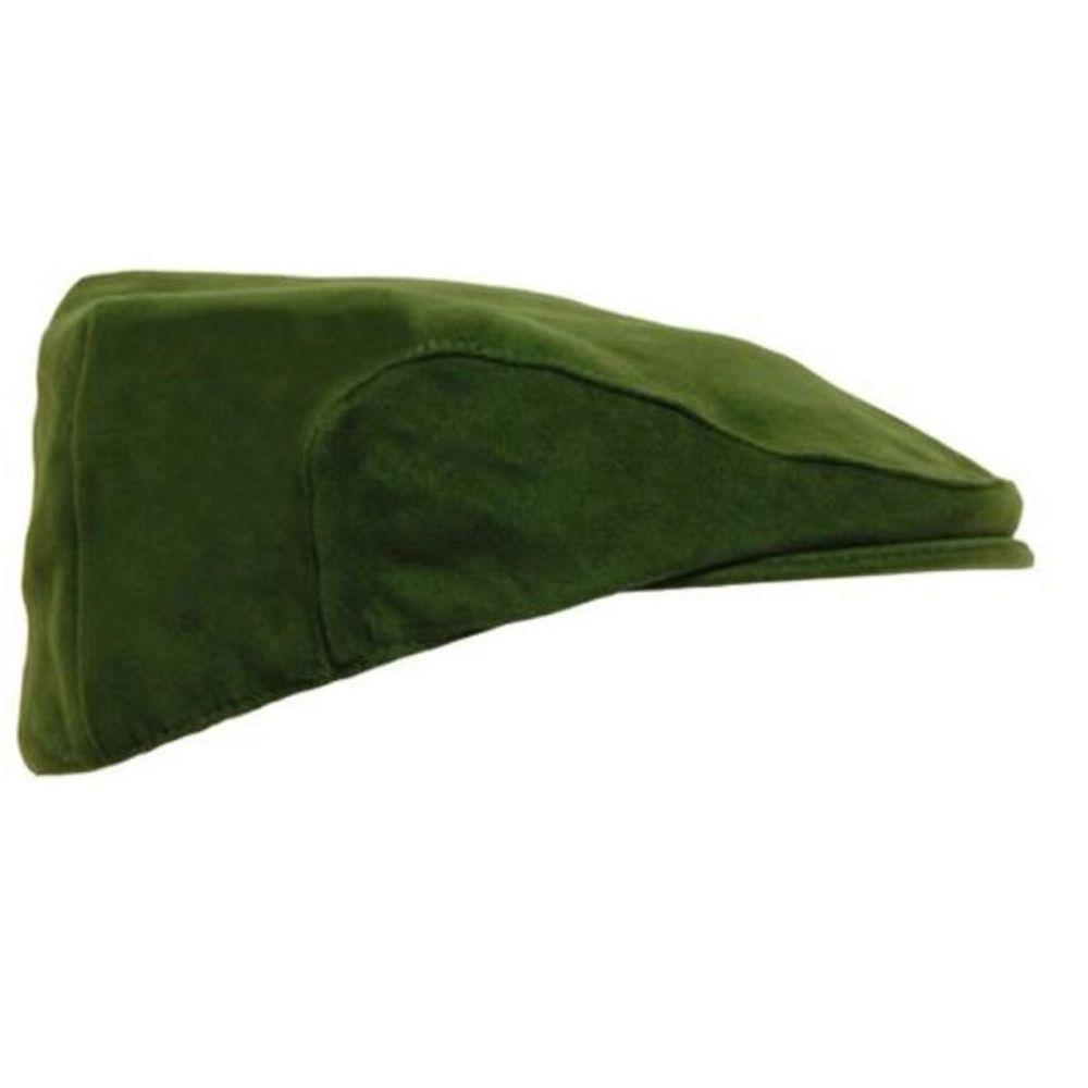 Waterproof Game Hunters Green Moleskin Flat Cap