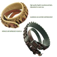 Heritage leather or cartridge & leather shotgun cartridge belts