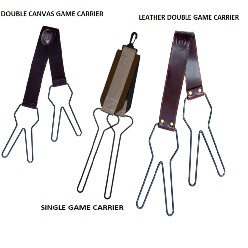 Game Bird Carriers, Single or Double, Canvas or Leather