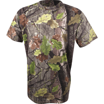 Jack Pyke Short Sleeve T-Shirt in  English Oak Evolution Camouflage Print