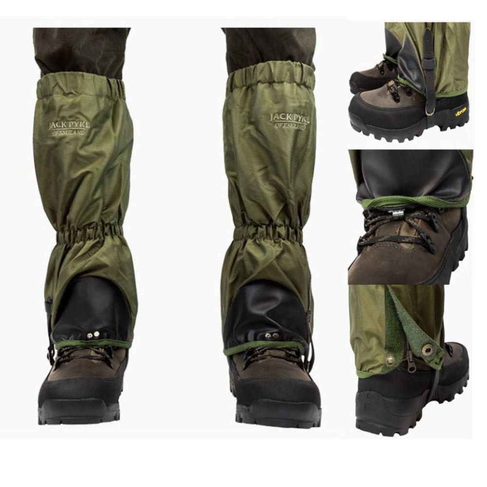 Waterproof gaiters, tough tear resistant material from Jack Pyke