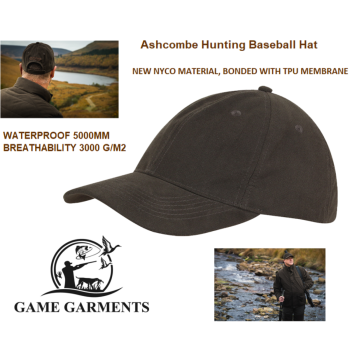 Jack Pyke Ashcombe Waterproof Baseball Cap in Olive Brown
