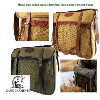 Jack Pyke Canvas and Faux Leather Game Hunting Bag