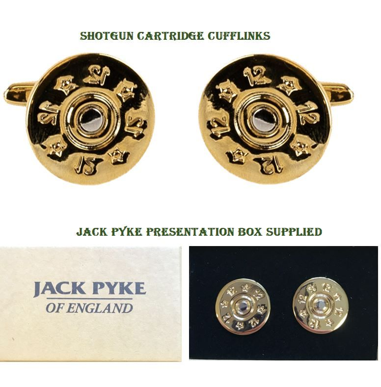 Hunting Cartridge Shooting Cufflinks