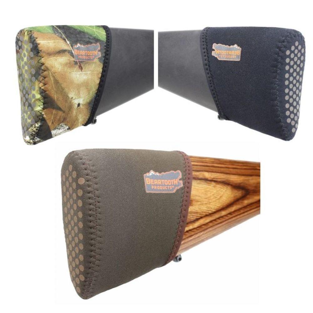 Beartooth stock recoil pad kits. Gun recoil pads. Colour brown, black, moss