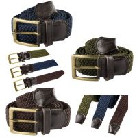 Countryman Elasticated Trouser Belt in Green or Brown or Blue