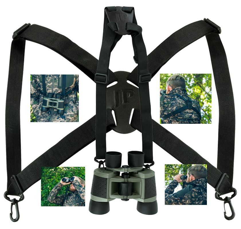 Field Binoculars withTwo Quick Release Harness Clips & 4 Slide Adjusters