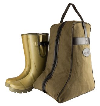 Jack Pyke Canvas and Faux Leather Wellington Boot Bag