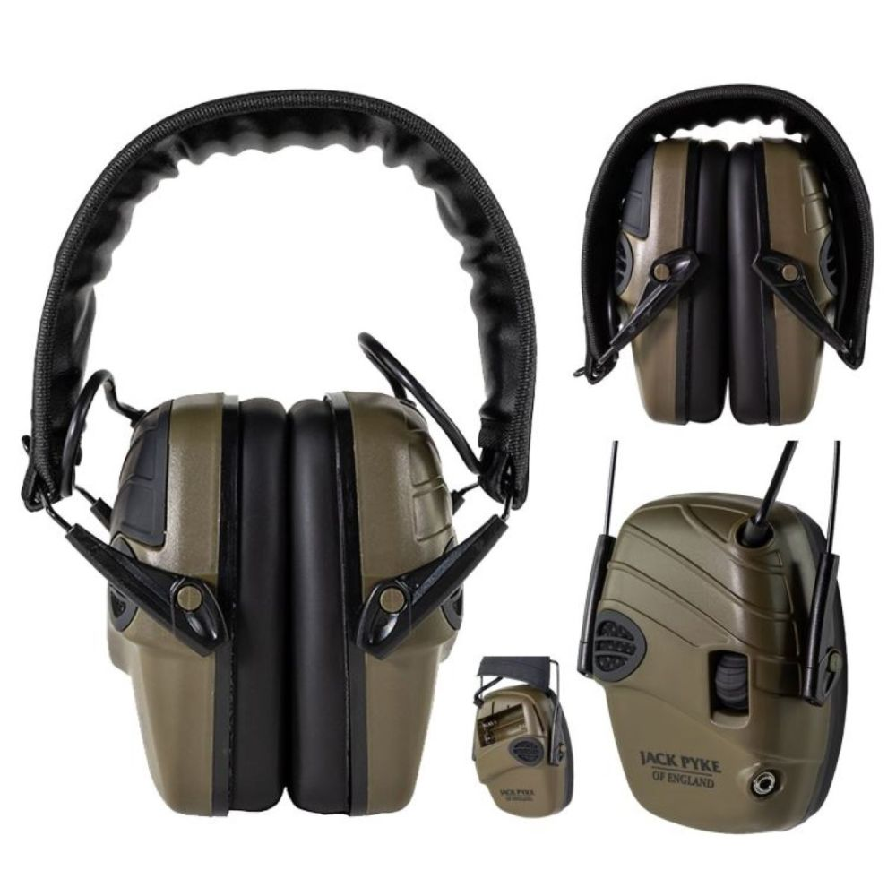 Electronic Ear Defenders, reduces harmful gunfire noise and any noise above