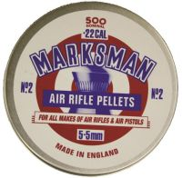 Marksman Air Rifle Pellets dome .22, 500 Pellets
