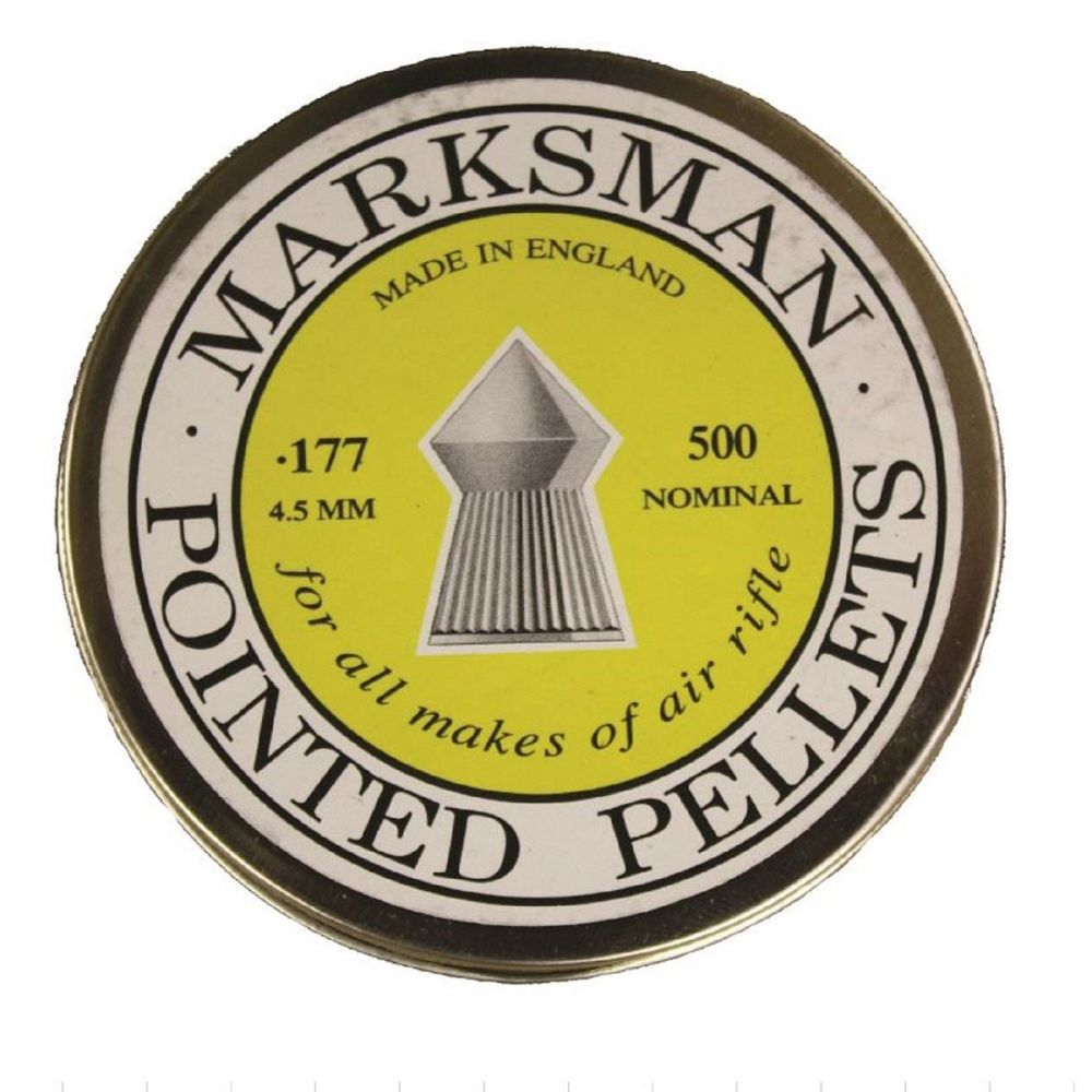 Marksman Air Rifle Pellets Pointed .177, 500 Pellets