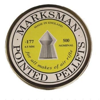 Marksman Air Rifle Pellets Pointed .177, 500 Pellets