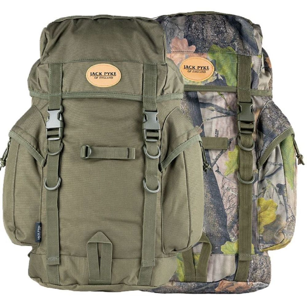 The Jack Pyke 25L Light and Compact Rucksack. Incorporating AirJet back ven