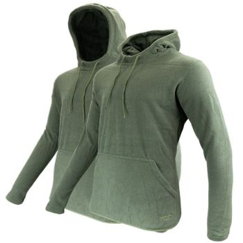 Jack Pyke Fieldman Fleece Hoodie / Pullover in Hunter's Green.