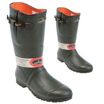 Sologne 4mm Polar Fleece Lined Adjustable Gusset Wellington Boots