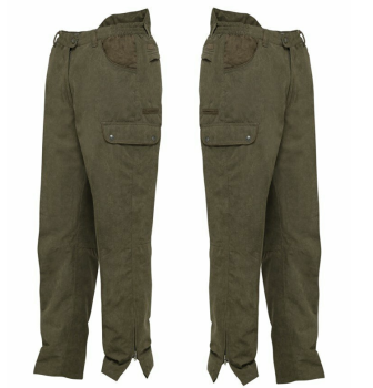 Marly Hunting Trousers. Taped Seams, Leg Zips, 6 Pockets Plus One