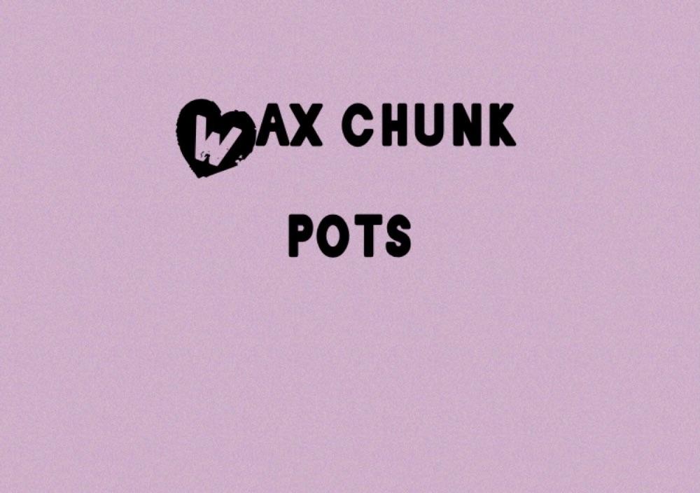<!--009-->  Wax chunk pots