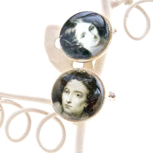 Mary & Percy Shelley cufflinks