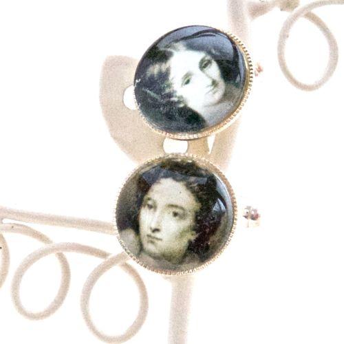 Mary & Percy Shelley cufflinks