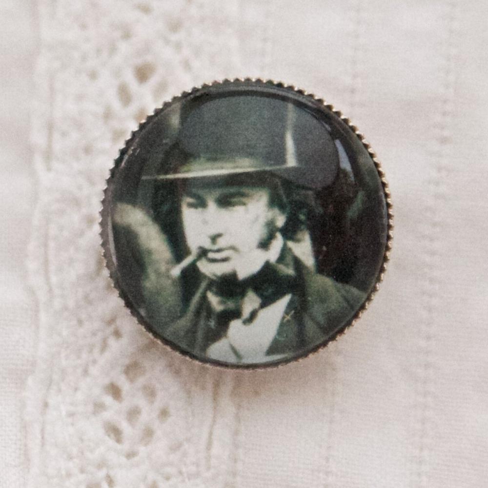 Isambard Kingdom Brunel brooch