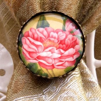 'Nighttime Gathering' Persian floral ring
