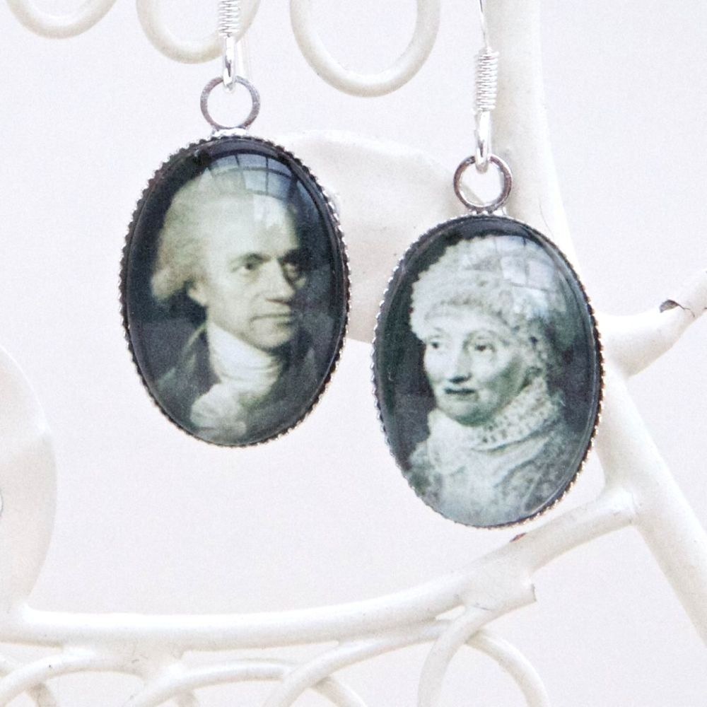 William & Caroline Herschel earrings