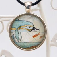 Minoan Knossos dolphin fresco pendant