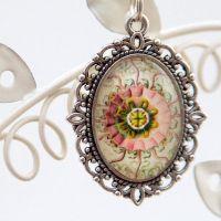 Ernst Haeckel Peromedusae jellyfish oval pendant