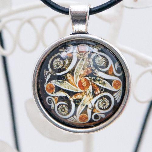 Phaistos dish pendant necklace