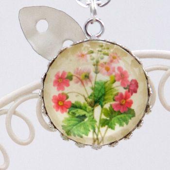 Primula sinensis Redouté deep glass pendant