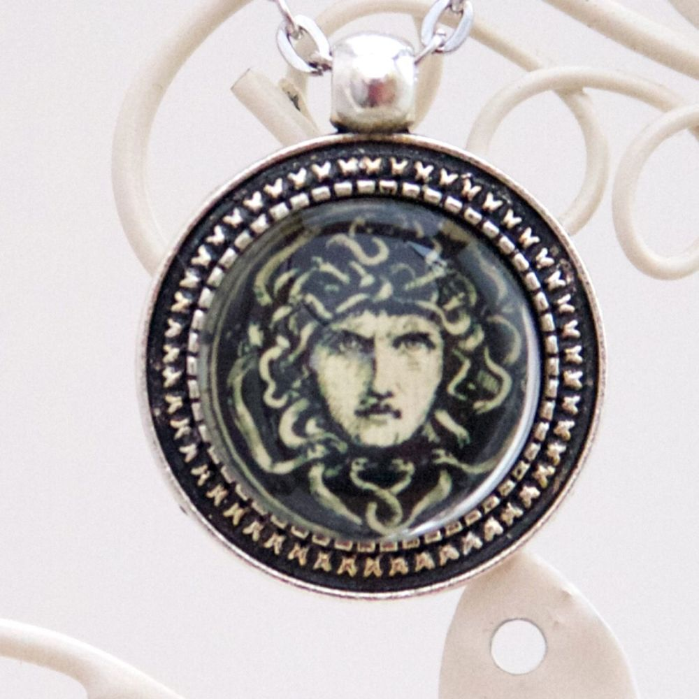 Medusa's head pendant necklace