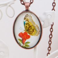 Butterfly by Maria Sibylla Merian, large pendant