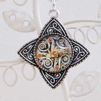 Minoan Phaistos dish star-shaped pendant