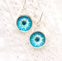 Ernst Haeckel Botryllus earrings, blue