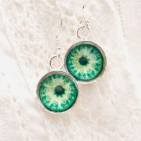 Ernst Haeckel Botryllus earrings, green