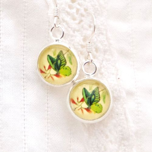 Ornithoptera priamus butterfly earrings