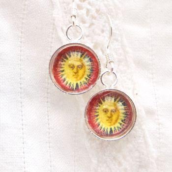 Splendor Solis sun earrings