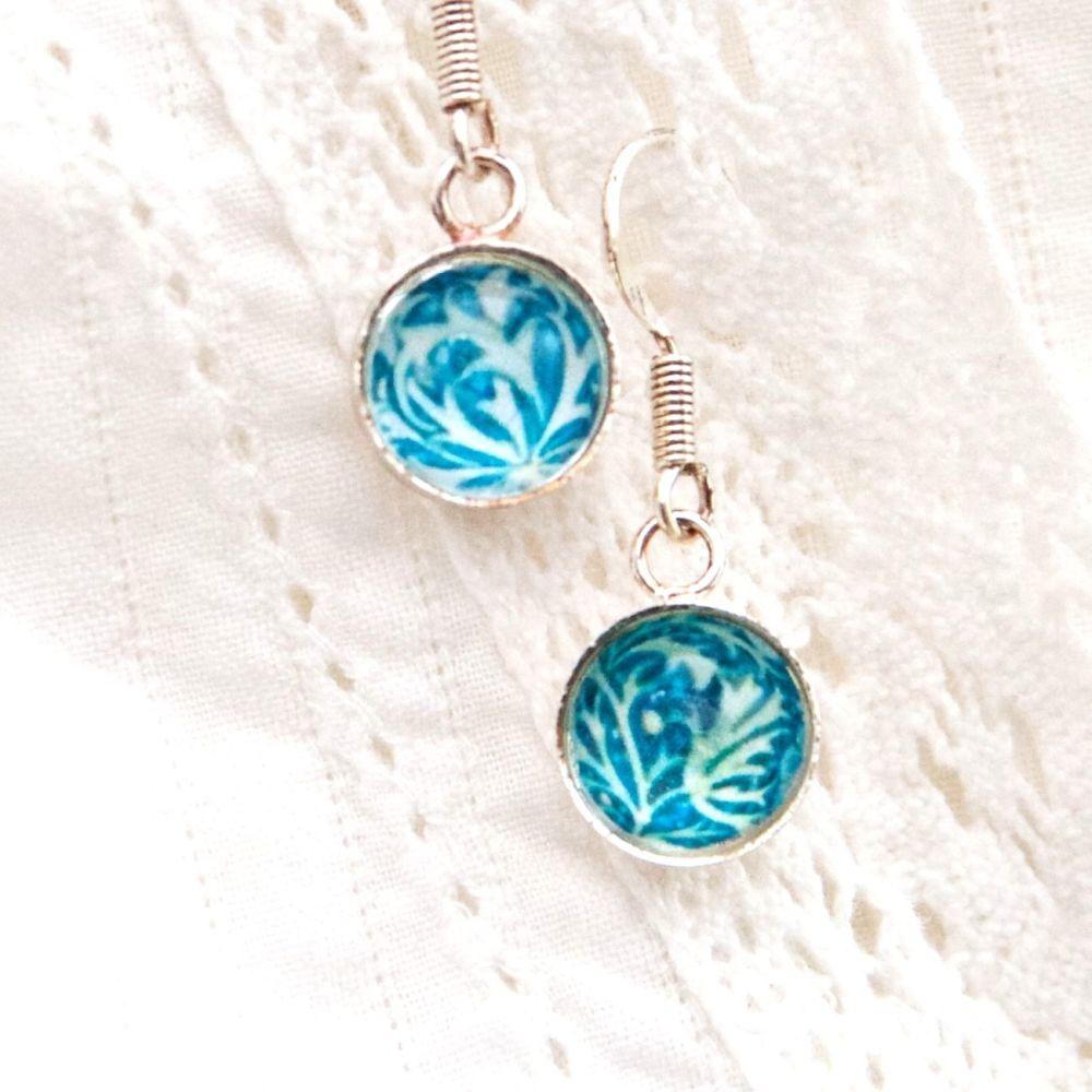William Morris 'Seaweed' earrings