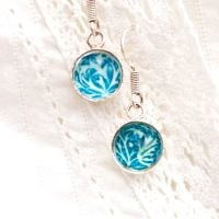 William Morris 'Seaweed' earrings