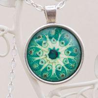 Ernst Haeckel Botryllus pendant, green