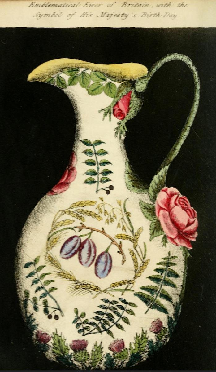Ewer, Floral Emblems