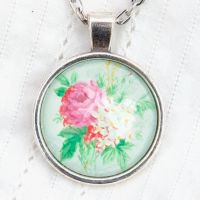 Victorian 'Arsenical Wallpaper' floral bouquet pendant