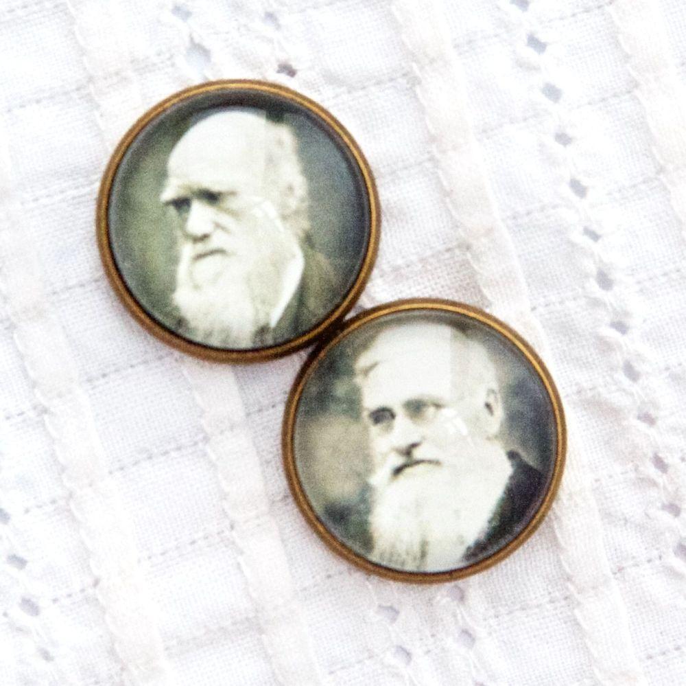 Charles Darwin & Alfred Wallace cufflinks