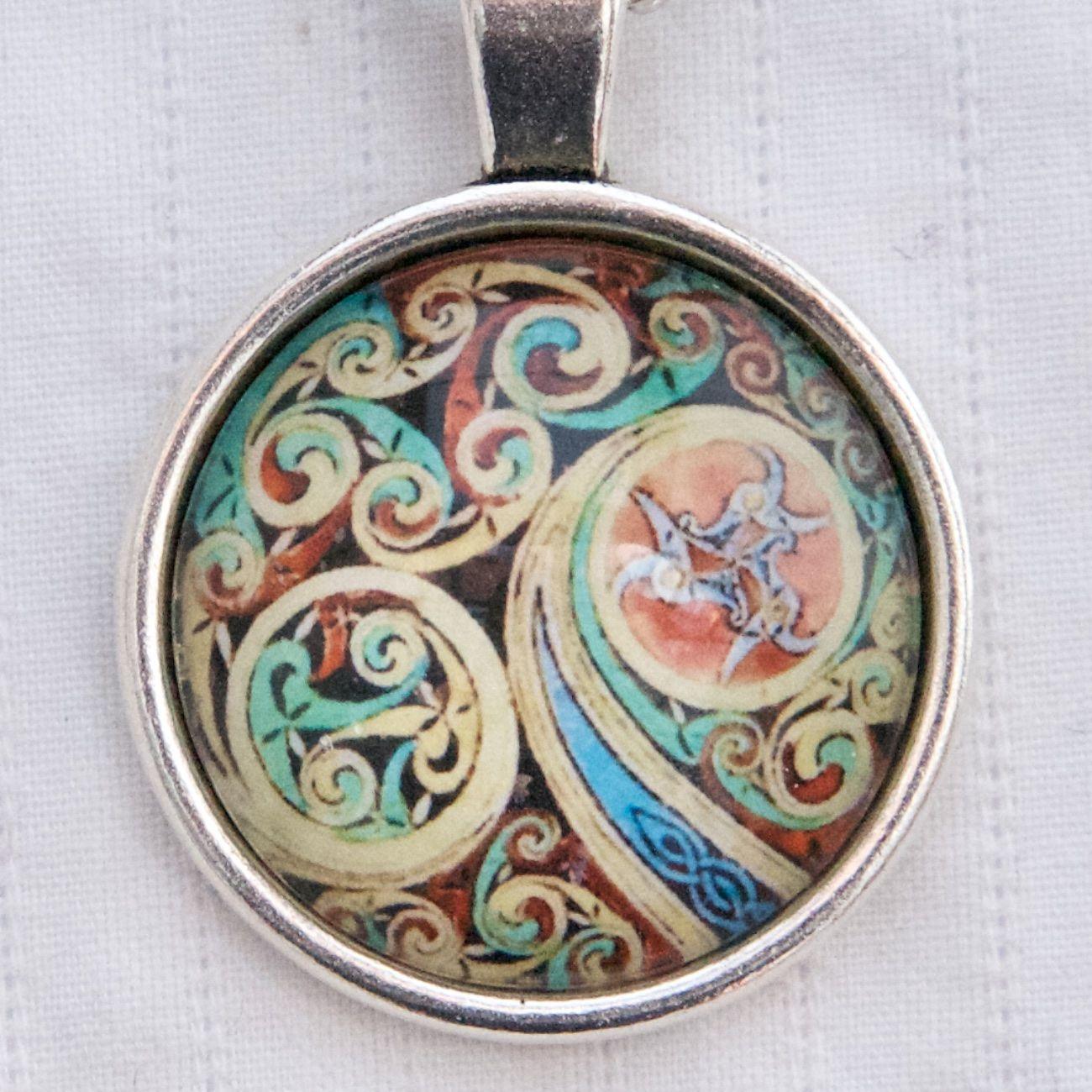 Haeckel siphonphore pendant